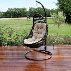 image-Maze Rattan Garden Furniture Malibu Brown Outdoor Hanging Chair