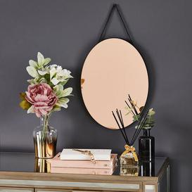image-Oval Hanging Copper Mirror Copper