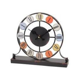 image-Smarty Coloured Disc Iron Mantel Clock
