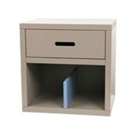 image-Mathy by Bols Kids Bedside Table in Madaket Design - Mathy Cement Grey