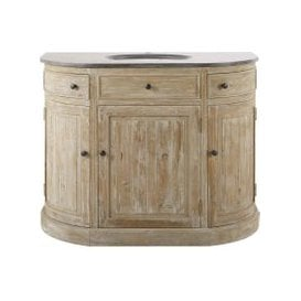 image-Recycled Pine and Blue Stone Sink Unit Leonce