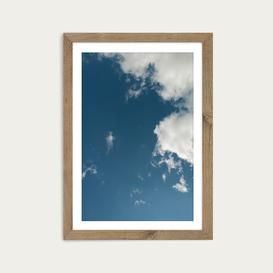 image-Sky Diving Art Print Oak Frame