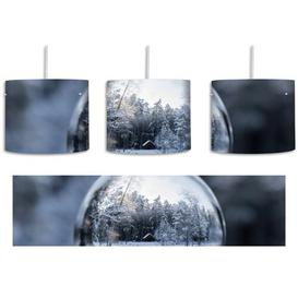 image-Ice Ball in a Winter Landscape 1-Light Drum Pendant East Urban Home Shade Colour: Blue/Grey