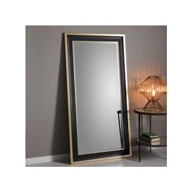 image-Edmonton Black and Gold Leaner Mirror Black/Gold