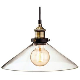 image-Firstlight Modern Vintage Style Glass Ceiling Pendant Light Shade - 3473AB