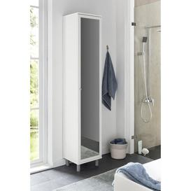 image-Moberg 35cm x 179cm Wall Mounted Bathroom Cabinet Mercury Row Colour: White, Orientation: Right