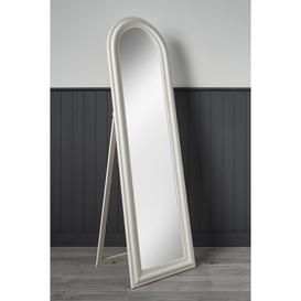 image-Large Full Length Free Standing Arched Wooden Mirror
