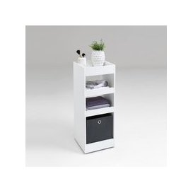 image-Candy Bathroom Storage Trolley In White With Shelves