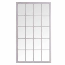 image-Florence Furniture Leaner Window Mirror Grey