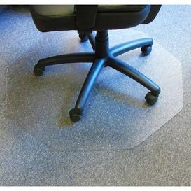 image-Cleartex Hard Floor Straight Edge Chair Mat Floortex Colour: Clear