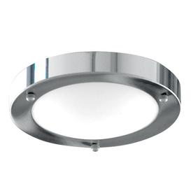 image-Searchlight 1131-31CC Chrome Flush 31cm Bathroom Light I.P44