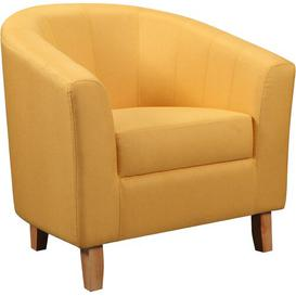 image-Calles Tub Chair Hashtag Home Upholstery Colour: Mustard