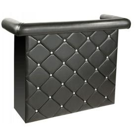 image-Charlie Black Upholstered Studded Miami Bar Unit