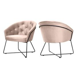image-Kaylee Tub Chair BelleFierté Upholstery Colour: Pink