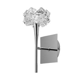 image-Mantra M3957/S Artic 1 Light Switched Wall Light In Chrome With Clear Glass