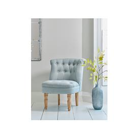 image-Buttoned Back Occasional Chair - Duck Egg