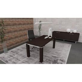 image-Bertie Executive Desk Ebern Designs Colour: Wenge, Size: 74cm H x 180cm W x 80cm D