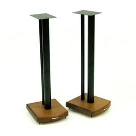 image-70cm Fixed Height Speaker Stand Symple Stuff Finish: Black/Dark Bamboo