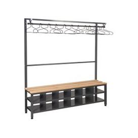 image-QMP Island Bench With Clothes Rail & Shoe Storage