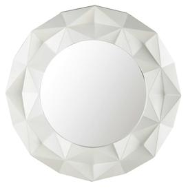 image-FUBUKI resin round mirror in white D 79cm