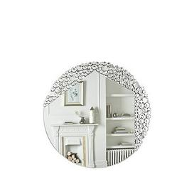 image-Shimmer Round Wall Mirror