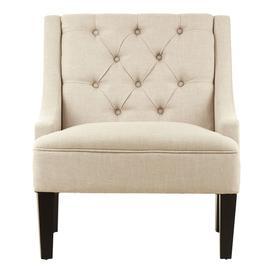 image-Marfak Natural Toned Linen Upholstered Bedroom Chair