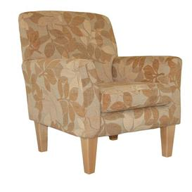 image-Bavaria Armchair Ophelia & Co. Upholstery: Bacio Hessian, Frame Finish: Mahogany