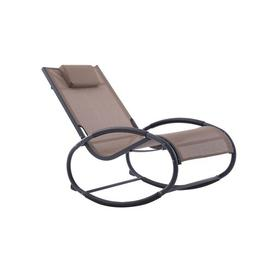 image-Allete Rocking Chair with Cushion Sol 72 Outdoor Finish: Macchiato