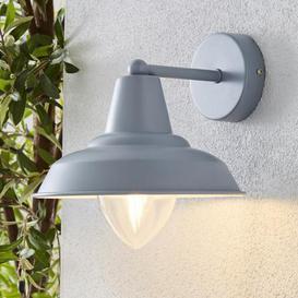 image-Galley Matt Grey Outdoor Wall Light Grey