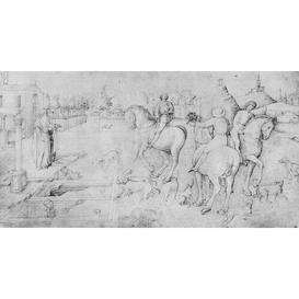 image-The Three Dead Men and The Three Living Men, from The Giovanni Bellini'S Album of Drawings by Giovanni Bellini - Picture Frame Drawing Print on Paper