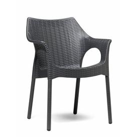 image-Webber Stacking Gardern Chair Bay Isle Home Seat Colour: Grey