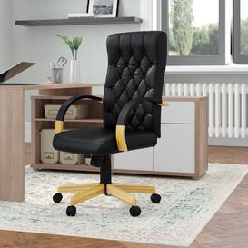 image-High-Back Leather Executive Chair Brayden Studio