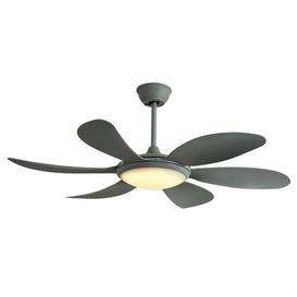 image-115cm Nia 5 Blade LED Ceiling Fan with Remote Ophelia & Co. Finish: Grey