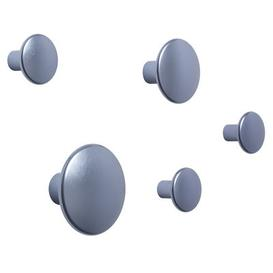 image-The Dots Métal Hook - / Set of 5 by Muuto Light blue