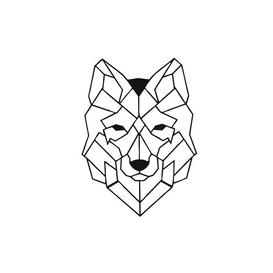 image-Wolf Geometric Metal Wall Décor Happy Larry