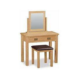 image-Global Home Salisbury Lite Oak Dressing Table Set