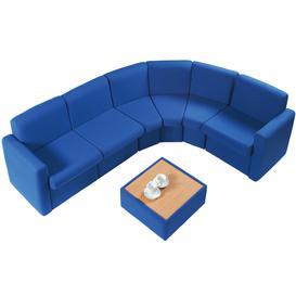 image-Portland Modular Reception Seating, Burgundy
