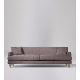 image-Swoon Chorley Three-Seater Sofa in Lilac House Weave With Short Light Feet