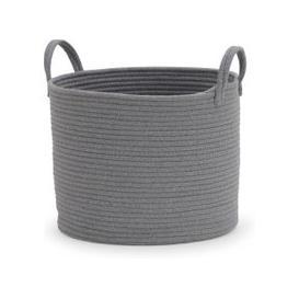 image-Cotton Rope Grey Storage Basket Grey