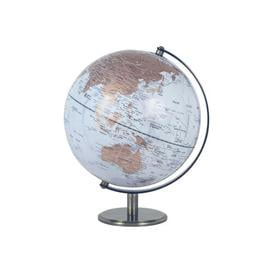 image-World Globe 25 Cm Ebern Designs Size: 30cm H x 25cm W x 25cm D, Globe Colour: LightBlue/Brown