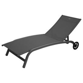image-Kavan Reclining Sun Lounger Sol 72 Outdoor Colour (Textile): Dark Grey