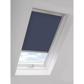 image-John Lewis & Partners Blackout Skylight Blind with Silver Frame, Navy