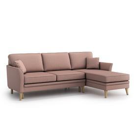image-Essex Universal Reversible Sleeper Corner Sofa Bed Mikado Living Upholstery Colour: Powder Pink