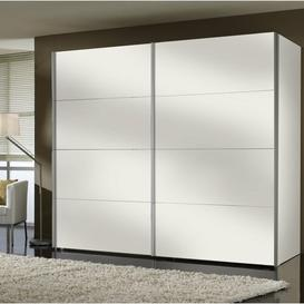 image-Gengler 2 Door Sliding Wardrobe Brayden Studio Body and front colour: Polar white, Interior fittings: Standard
