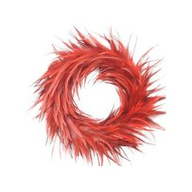 image-Libra Feather Bright Red Wreath - Xmas-18