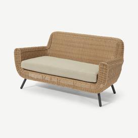 image-Jonah Garden 2 Seater Sofa, Natural Polyrattan