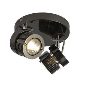 image-2 Light Telford Cylinder Ceiling Spotlight Plate - Black