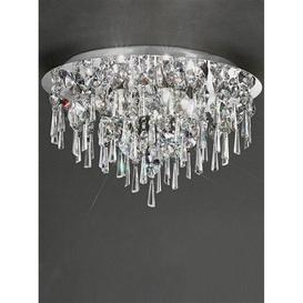 image-C5720 Round 5 Light Crystal Bathroom Flush Ceiling Light