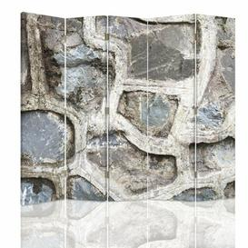 image-Canvas Stone Wall 3 5 Panel Room Divider Williston Forge