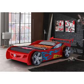 image-Z1 Racer Single Car Bed Just Kids Colour: Red